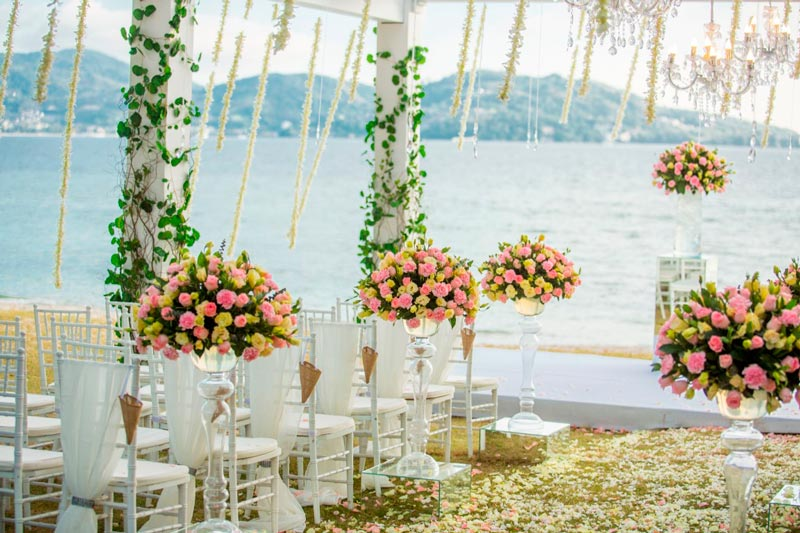 luxury wedding, beachfront wedding, beach wedding