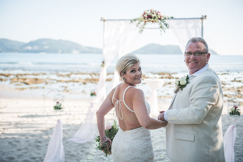 Wedding at Thavorn Beach Village, Renew vows