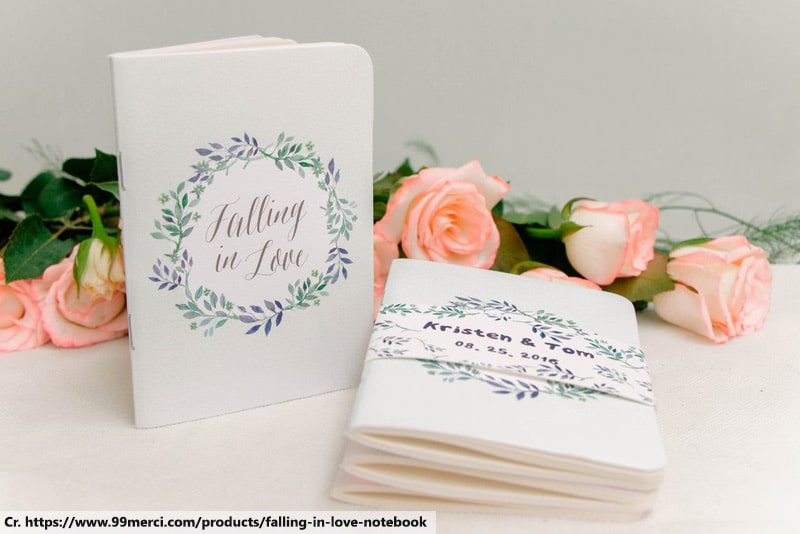 notebook wedding favors