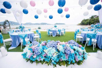 beach wedding in phuket, romantic beach wedding