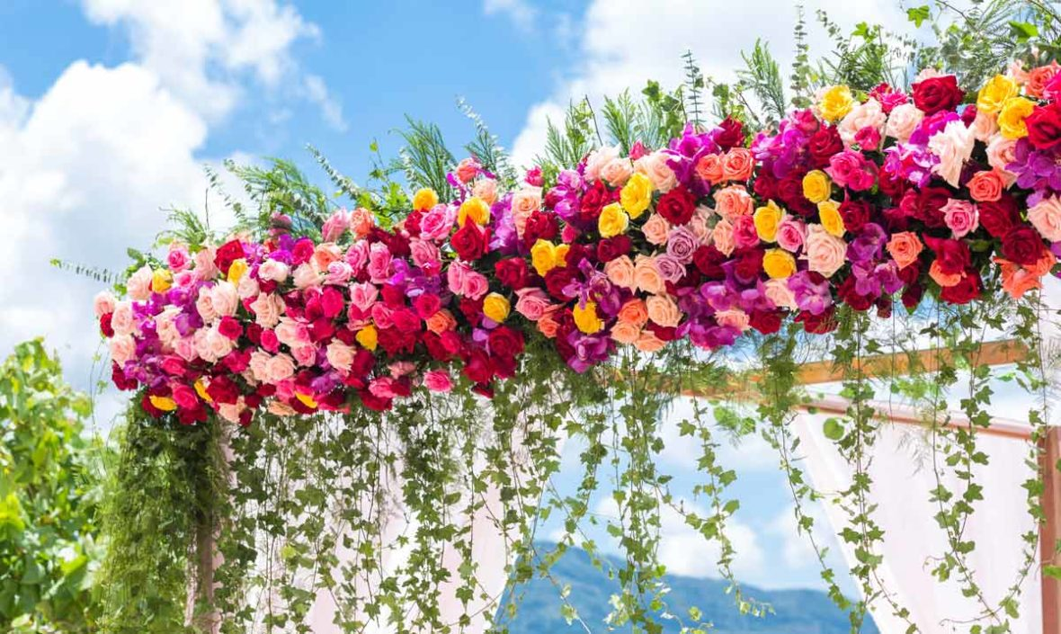 flower beach wedding, phuket beach wedding